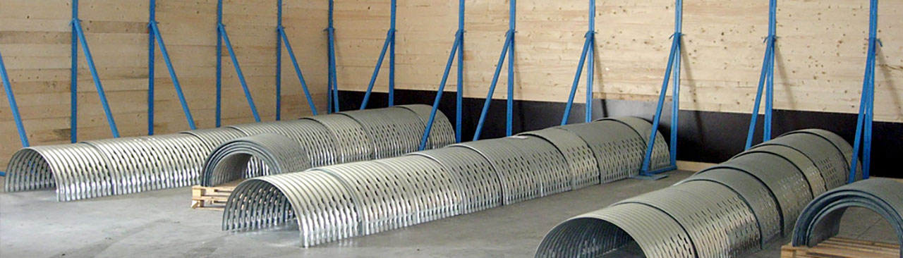 Ventilation ducts and retaining walls in various sizes
